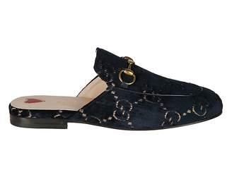 Gucci Velvet Backless Loafers