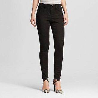 Women's Mid-rise Skinny Jeans (Curvy Fit) Black - Mossimo $27.99 thestylecure.com