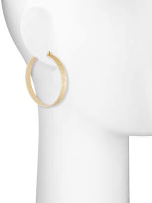 Fragments for Neiman Marcus Ombre Glitter Hoop Earrings, Golden