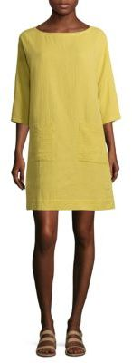 Eileen Fisher Organic Cotton Boatneck Tunic Dress $238 thestylecure.com