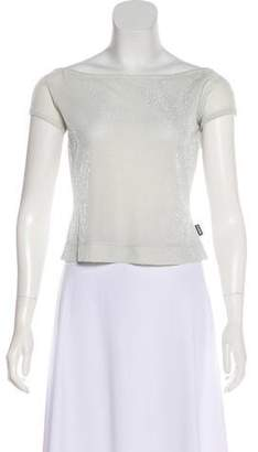 Gianfranco Ferre Metallic Knit Top w/ Tags