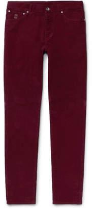 Brunello Cucinelli Stretch-cotton Corduroy Trousers