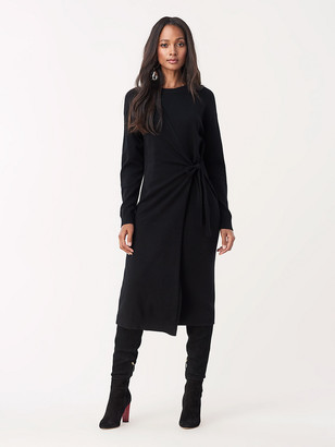 Diane von Furstenberg Althea Wool Cashmere Faux-Wrap Dress