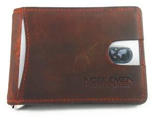 Noblemen Leather Works Noblemen Mens Leather Money Clip Minimalist Wallet | RFID Protection | ID Card Window
