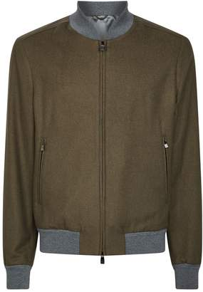 Corneliani Zip-Up Bomber Jacket