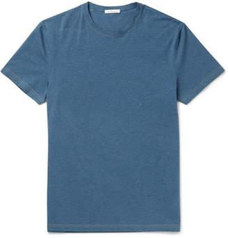 Acne Studios Edvin Melange Stretch-Cotton T-Shirt - Men - Blue