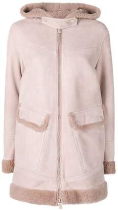 Bally shearling parka coat