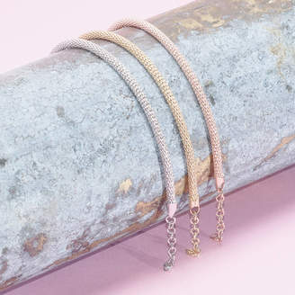 Co Loel & Diamond Cut Chain Bracelets In Gold, Rose Gold, Silver