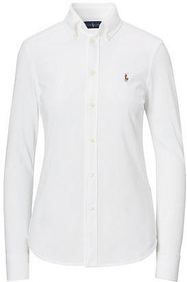 Polo Ralph Lauren Knit Cotton Oxford Shirt $98.50 thestylecure.com