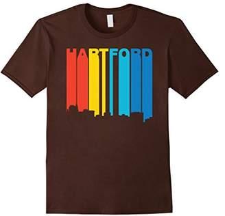 Hartford Retro 1970's Style Connecticut Skyline T-Shirt
