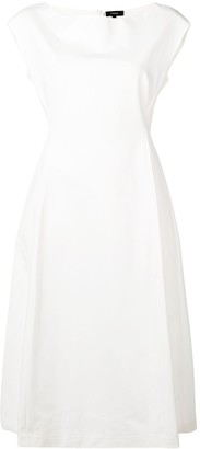 Theory plain flared dress