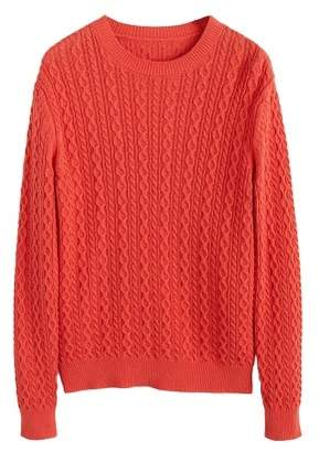 MANGO MAN Contrasting knit sweater