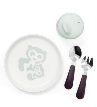 Stokke Munch Essentials Sippy Cup, Plate, Fork & Spoon Set