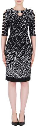 Joseph Ribkoff Geometric Cutouts Dress