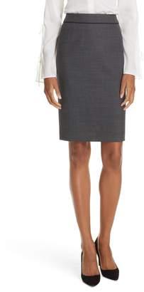 BOSS Vorita Geometric Wool Blend Suit Skirt