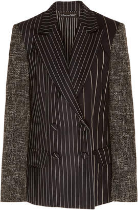 Oscar de la Renta Striped Wool And Mohair Blazer