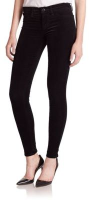 J BrandJ BRAND Mid-Rise Super Skinny Velveteen Jeans