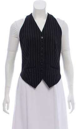 Norma Kamali Wool Button-Up Vest