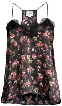 CAMI NYC Floral Charmeuse Top