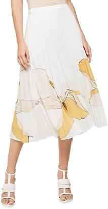 Reiss Armelle Pleated Midi Skirt