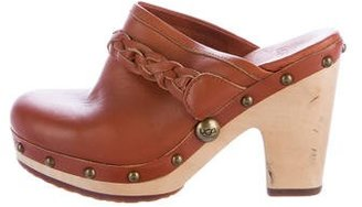 UGG Australia Leather Studded Clogs $75 thestylecure.com