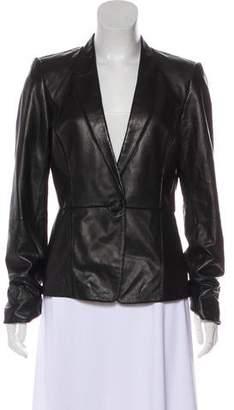Lafayette 148 Leather Structured Blazer