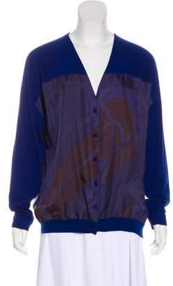 Hermes Buckle Print Knit Cardigan