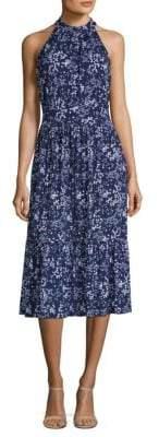 MICHAEL Michael Kors Printed Halter Midi Dress