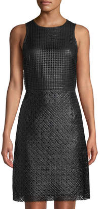 Leon Max Sleeveless Rubberized Dress A-Line Dress