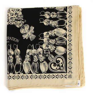 Belle Epoque L'illustration Eru & Black Elephant Silk Scarf
