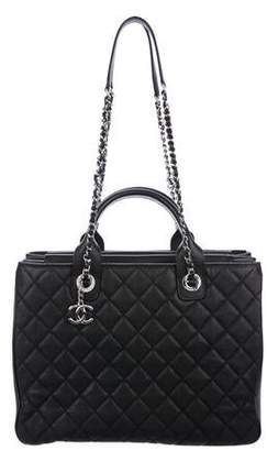 Chanel 2018 Large Quilted Shopping Tote