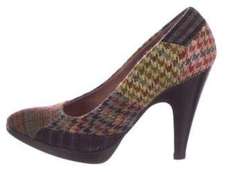 Miu Miu Tweed Pointed-Toe Pumps