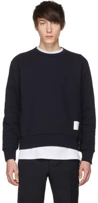 Thom Browne Navy Stripe Crewneck Sweatshirt