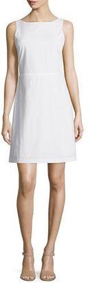 Theory Jozzla Light Poplin Sleeveless Dress $295 thestylecure.com