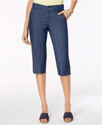 Style&Co. Style & Co Snap-Hem Capri Pants, Created for Macy's