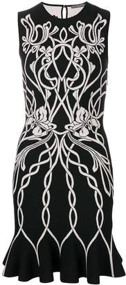 Alexander McQueen knitted jacquard dress
