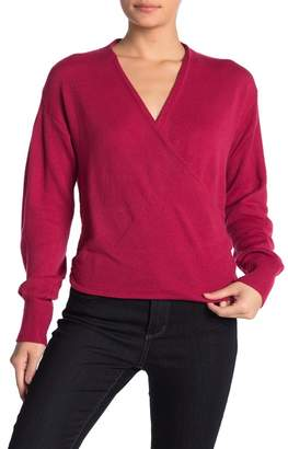 Free Press Wrap Front Long Sleeve Sweater