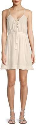 The Jetset Diaries Women's Lace-Up Cotton Dress