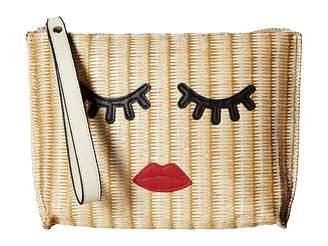 Sam Edelman Lanah PP Straw Clutch Clutch Handbags