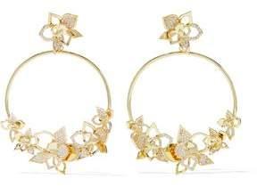 Noir Gold-Tone Crystal Hoop Earrings