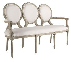 Triple Medallion Settee