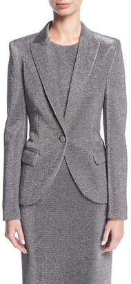 Escada Lurex® Notch-Collar One-Button Blazer