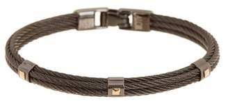 Alor 18k Yellow Gold Black-Plated Rope Bracelet