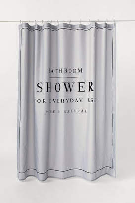H&M Text-print Shower Curtain - Gray