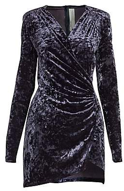 Off-White Women's Crushed Velvet Stretch Wrap Dress