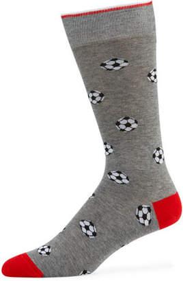 Neiman Marcus Men's Soccer Ball Socks