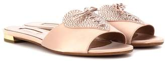Aquazzura Heartbeat crystal-embellished slides