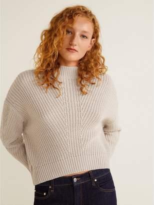 MANGO Knitted Jumper - Light Grey