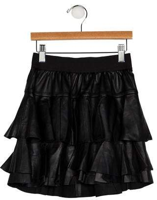 Little Remix Girls' Layered Leather Skirt