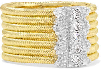 Buccellati Hawaii 18-karat Yellow And White Gold Diamond Ring